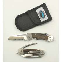 Myerchin Rigging Knives, Myerchin WF377 Gen 2: Wood Handle, Crew [FOLDING BLADE]