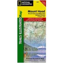 Oregon Travel & Recreation Guides :Mt. Hood & Willamette National Forest (National Geographic Map)