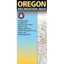 BOOKS/FIELD GUIDES, Oregon Recreation Map