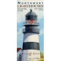 Pacific Northwest, Northwest Lighthouses: Illustrated Map and Guide