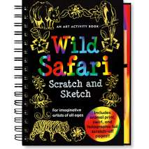 Jungle & Zoo Animals, Scratch and Sketch: Wild Safari