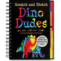 Dinosaurs & Reptiles, Scratch and Sketch: Dino Dudes