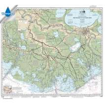 Waterproof NOAA Charts :Waterproof NOAA Chart 11352: Intracoastal Waterway New Orleans to Calcasieu River East Section
