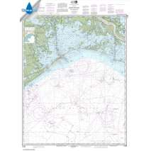 Waterproof NOAA Charts :Waterproof NOAA Chart 11358: Barataria Bay and approaches