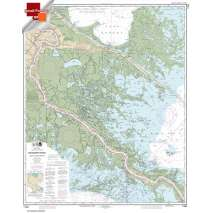Small Format NOAA Charts, Small Format NOAA Chart 11364: Mississippi River-Venice to New Orleans