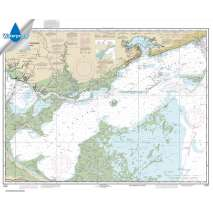 Waterproof NOAA Charts :Waterproof NOAA Chart 11371: Lake Borgne and approaches Cat Island to Point aux Herbes