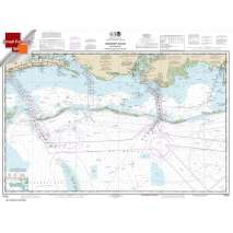 Small Format NOAA Charts, Small Format NOAA Chart 11373: Mississippi Sound and approaches Dauphin Island to Cat Island
