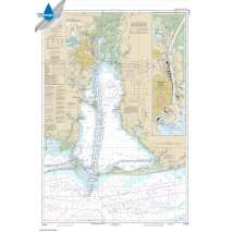 Waterproof NOAA Charts :Waterproof NOAA Chart 11376: Mobile Bay Mobile Ship Channel-Northern End