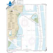 Waterproof NOAA Charts :Waterproof NOAA Chart 11380: Mobile Bay East Fowl River to Deer River Pt; Mobile Middle Bay Terminal