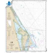 Atlantic Coast Charts :Waterproof NOAA Chart 11484: Ponce de Leon Inlet to Cape Canaveral