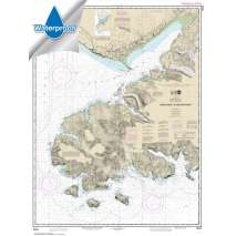 Alaska Charts :Waterproof NOAA Chart 16645: Gore Point to Anchor Point