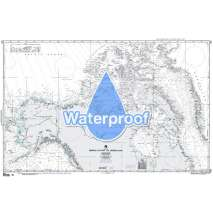 Miscellaneous International, Waterproof NGA Chart 803: Arctic Bering Strait to Greenland
