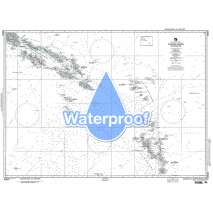 Region 8 - Pacific Islands, Waterproof NGA Chart 82020: Solomon Is to Vanuatu (New Hebrides)