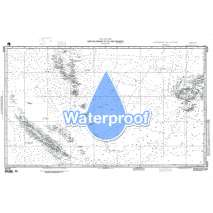 Region 8 - Pacific Islands, Waterproof NGA Chart 82030: New Caledonia to Fiji Is and Vanuatu