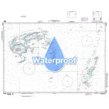 Region 8 - Pacific Islands, Waterproof NGA Chart 83500: Fiji & Tonga Islands So Pacific Ocean