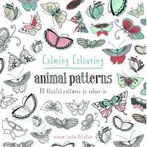 Adult Coloring Books, Calming Colouring: Animal Patterns
