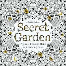Adult Coloring Books, Secret Garden: An Inky Treasure Hunt and Coloring Book