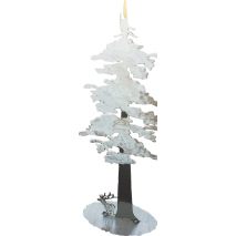 Metal Displays, Redwood Tree w/ Elk STAND-UP DISPLAY