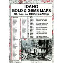Historical Site and Related Guides, Idaho Gold and Gems Map, Then and Now