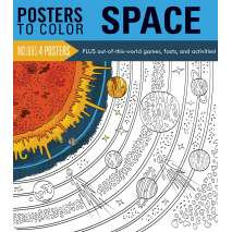Coloring Books, Posters to Color: Space