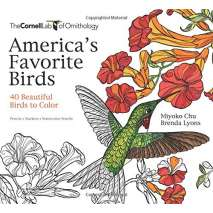 Adult Coloring Books, America's Favorite Birds: 40 Beautiful Birds to Color