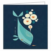 Whale Has A Friend GreenGift-Notes, Eco-Friendly Mini Gift Notes and Envelopes