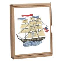 Journals, Cards & Stationary, Tall Ship GreenNotes, full-color, eco-friendly, all occasion boxed notecard set