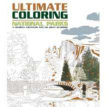 Adult Coloring Books, Ultimate Coloring National Parks