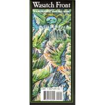 Rocky Mountain and Southwestern USA Travel & Recreation, Wasatch Front Panoramic Hiking Map