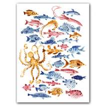 Journals, Cards & Stationary, Ocean Dwellers Notecard Box Two-Piece Gift Box of Museum Quality