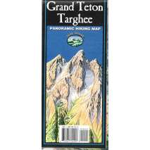 Rocky Mountain and Southwestern USA Travel & Recreation, Grand Teton/Targhee Panoramic Hiking Map