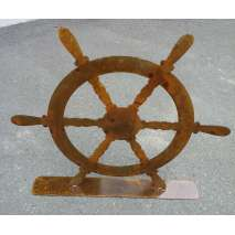 Custom Metal Art, Ships Wheel Custom Display