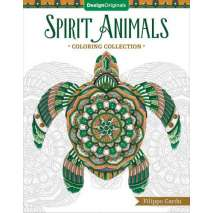 Adult Coloring Books, Spirit Animals Coloring Collection