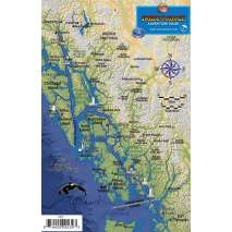 Alaska and British Columbia Travel & Recreation, Alaska Inside Passage Map Guide LAMINATED CARD