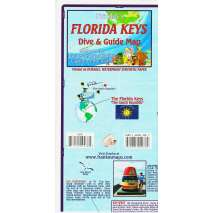 Florida and Southeastern USA Travel & Recreation, Florida Keys Dive & Guide Map