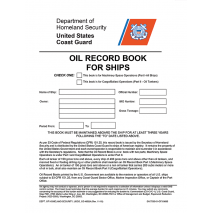 Profesional , Oil Record Book for Ships - USCG And US Secretary Of Transportation