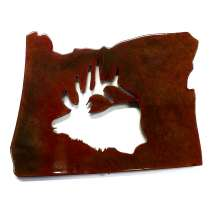 Magnets & Metal Art, Oregon w/Elk MAGNET
