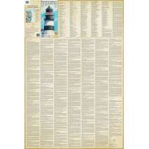 Northwest Lighthouses Illustrated Map & Guide Laminated Poster