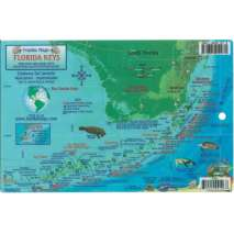 Florida and Southeastern USA Travel & Recreation, Florida Keys Coral Reef Creatures & Dive Map LAMINATED CARD