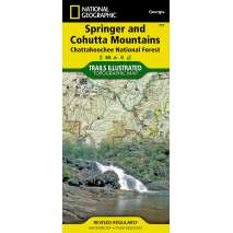 Florida and Southeastern USA Travel & Recreation, Springer and Cohutta Mountains (National Geographic Trails Illustrated Map)