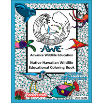 Adult Coloring Books, Native Hawaiian Wildlife Educational Coloring Book