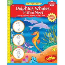 Activity Books: Aquarium, Watch Me Draw: Dolphins, Whales, Fish & More