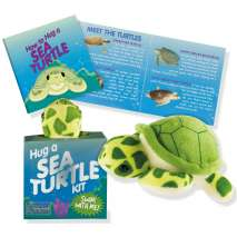 Books for Aquarium Gift Shops :Hug a Sea Turtle Kit