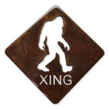 Bigfoot, Sasquatch, Bigfoot X-ing MAGNET (Large)