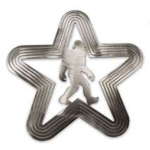 Bigfoot Metal Art, Bigfoot Santa Star SPINNER