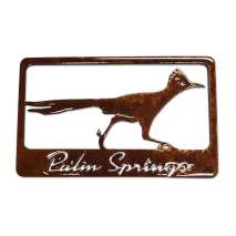 Magnets & Metal Art, Roadrunner w/Palm Springs MAGNET