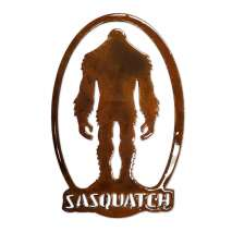 Bigfoot Metal Art, Sasquatch Oval MAGNET