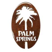 Magnets & Metal Art, Palm Springs w/Palm Oval MAGNET