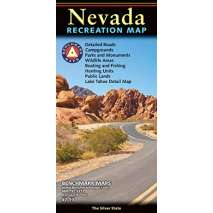 Rocky Mountain and Southwestern USA Travel & Recreation :Nevada Recreation Map
