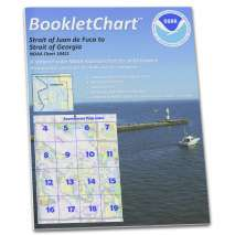 """Pacific Coast Charts :NOAA BookletChart 18421: Strait of Juan de Fuca to Strait of Georgia;Drayton Harbor, Handy 8.5"""" x 11"""" Size. Paper Chart Book Designed for use Aboard Small Craft"""